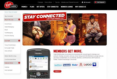 VIRGIN MOBILE WEB SITE